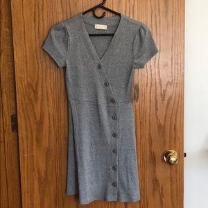 NWT grey ribbed dress